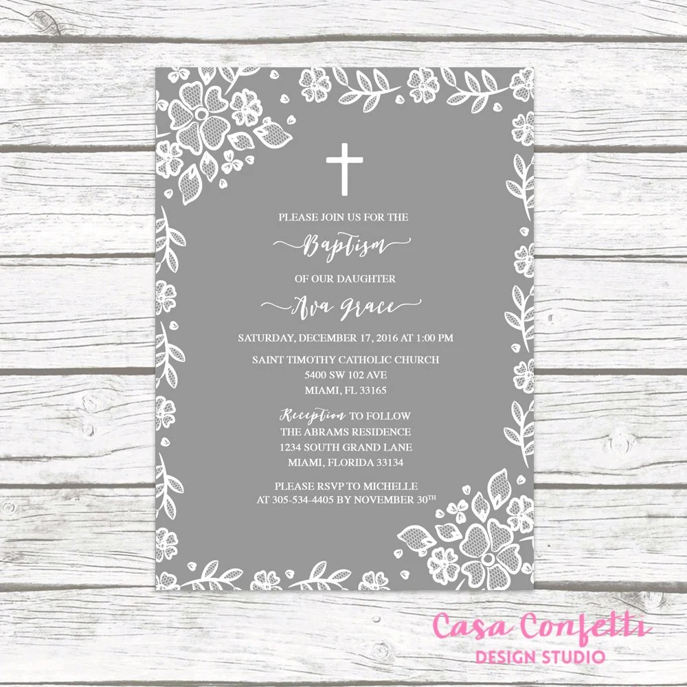 Baptism Digital Invitations