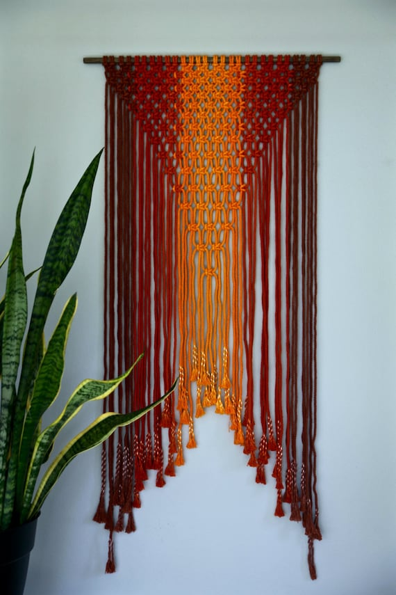 Sale 50 Off Macrame Wall Hanging Hand Dyed Cotton Rope In