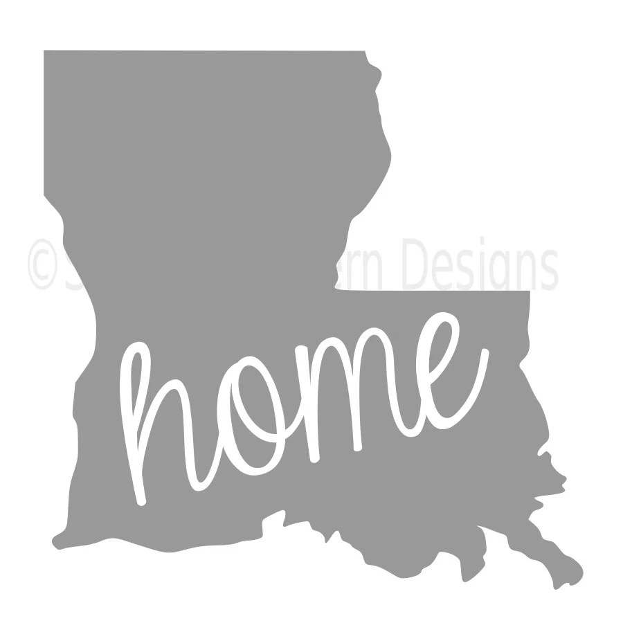 Louisiana SVG PNG DXF State Home Outline Instant Download ...