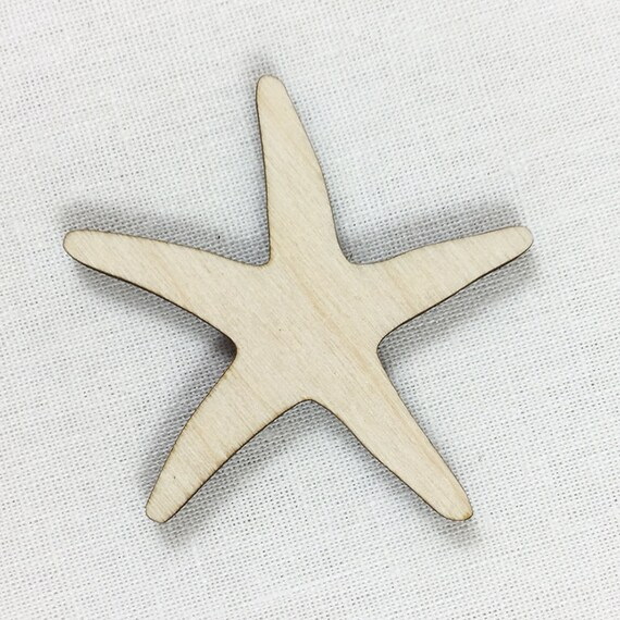 Starfish Laser Cut Wood Shape Diy Craft Supply Wood Sea Star