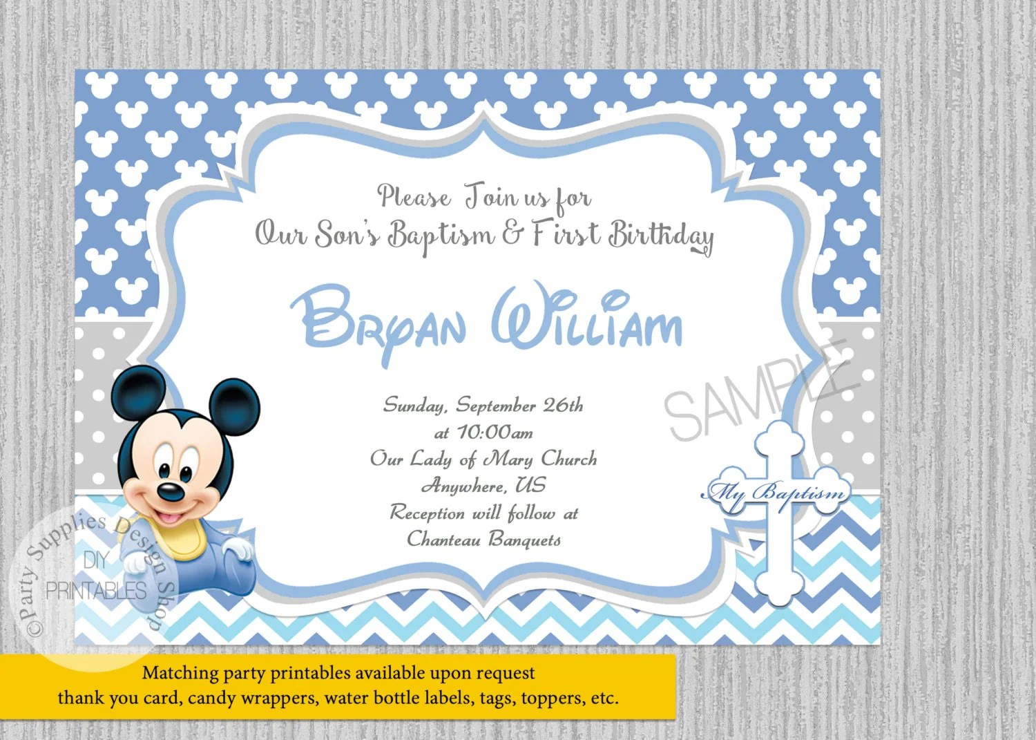 Create Your Own Christening Invitations Free