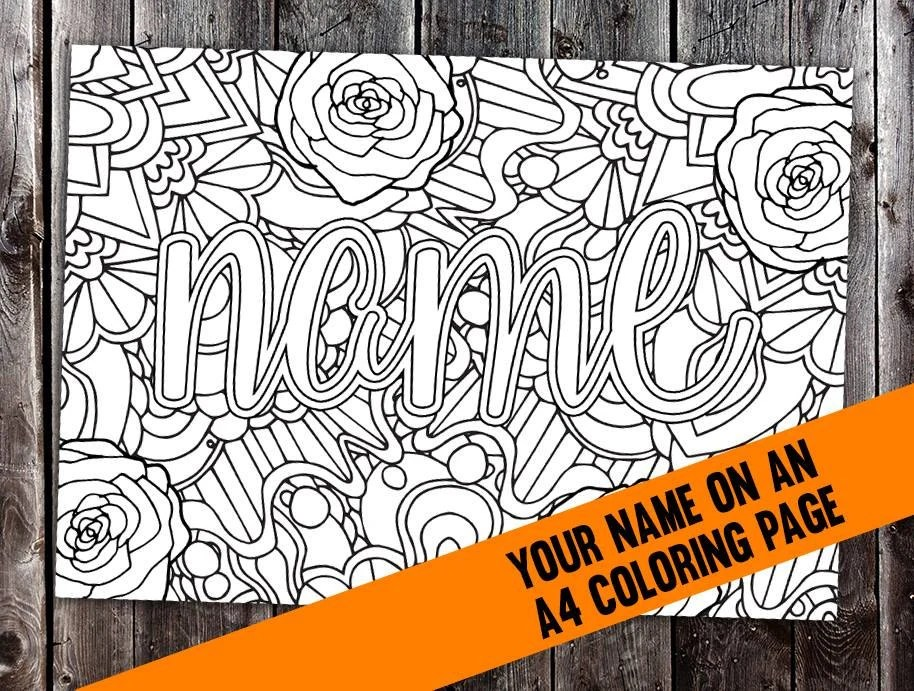 Custom coloring page from your name CBL00N Printable A4