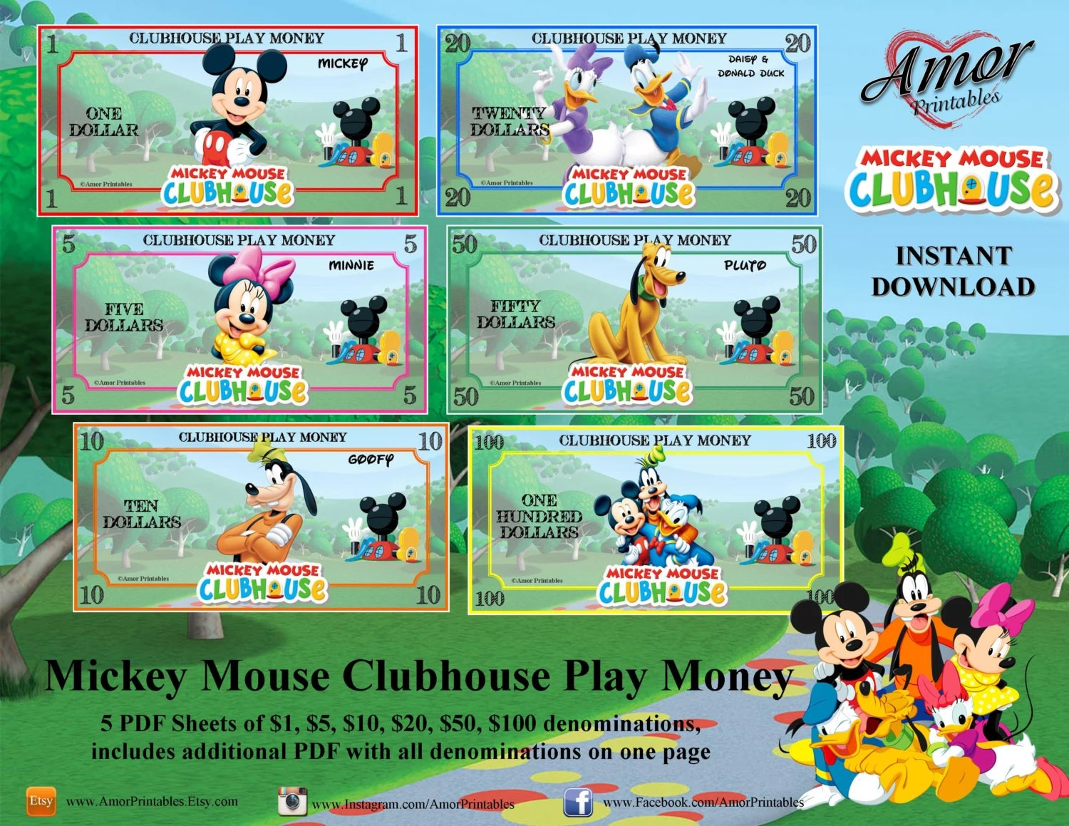 Mickey Clubhouse Mouse Checks