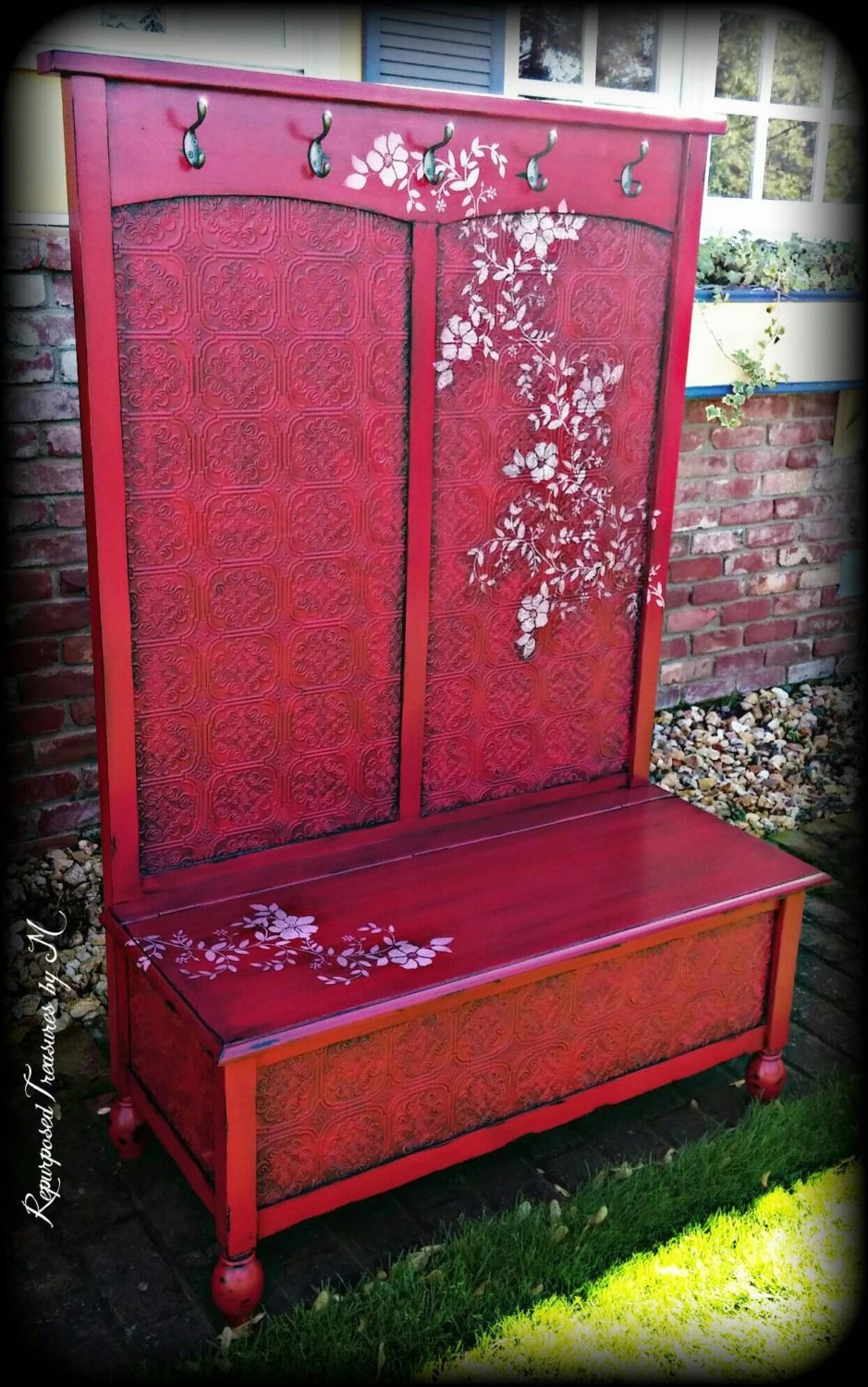 Sold Sold Hall Tree Bench Entryway Bench Shabby Chic