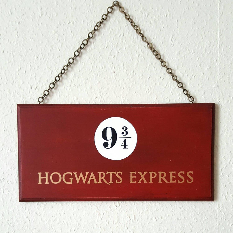 HOGWARTS EXPRESS Sign Hand Painted Wooden Sign Wall Art
