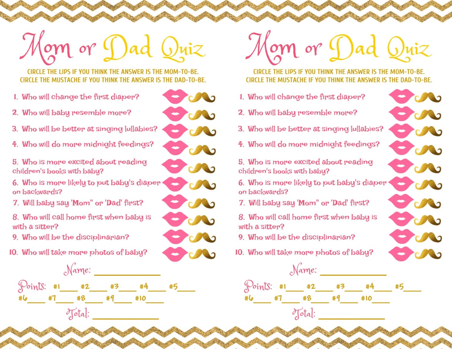 And Trivia Baby Shower Questions Answers Baby