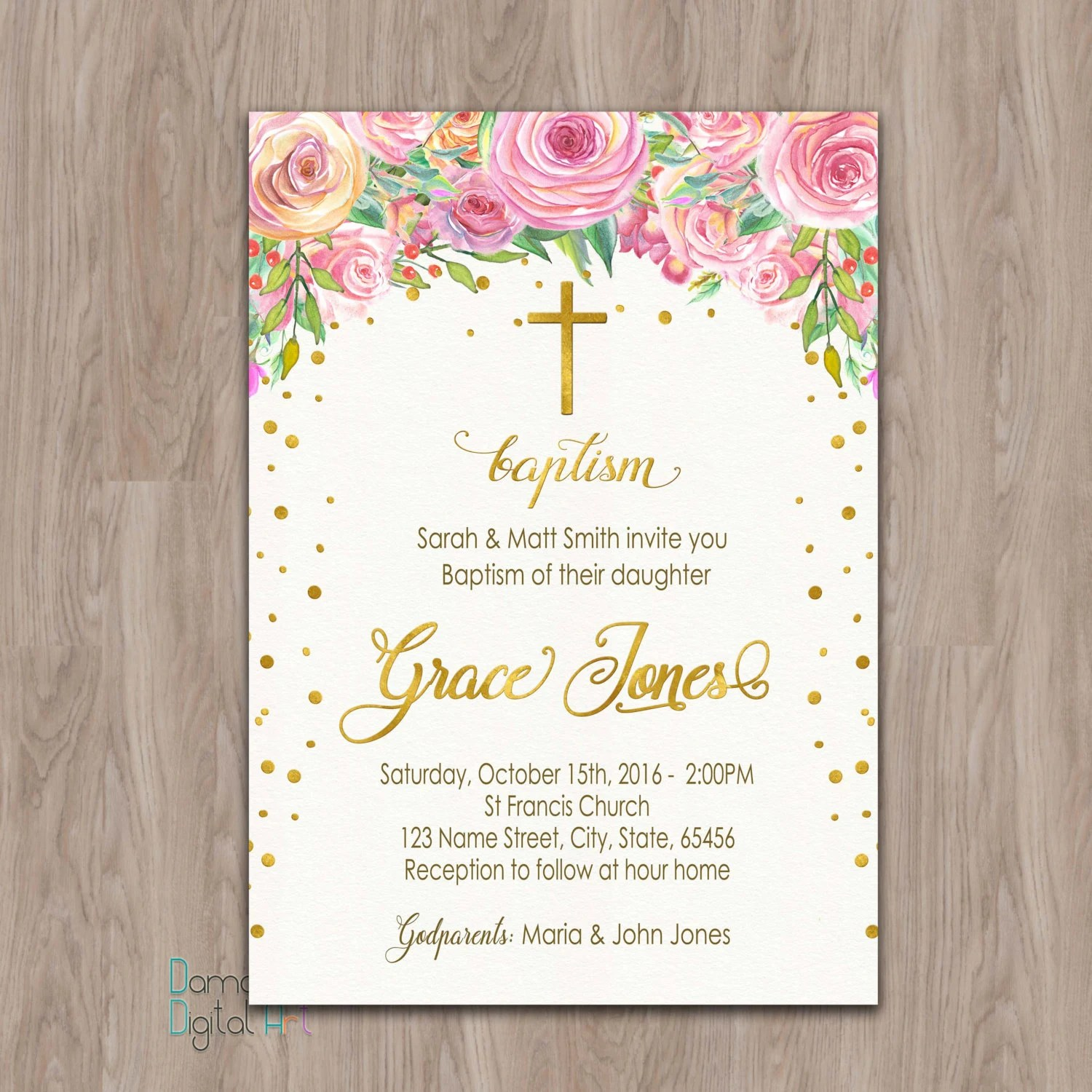 My Baptism Invitations