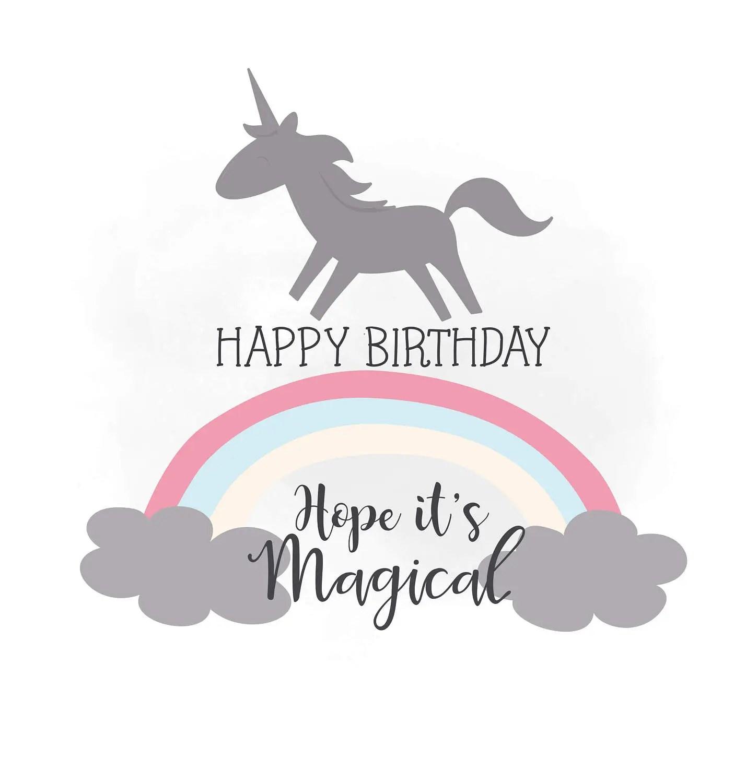 Birthday Unicorn Clip Art