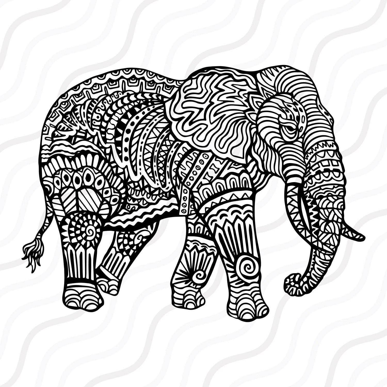 Cute Free Elephant Coloring Sheets