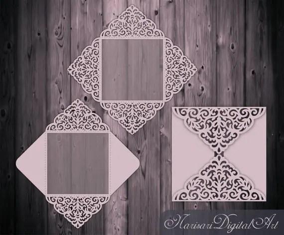 Four Fold Wedding Invitations