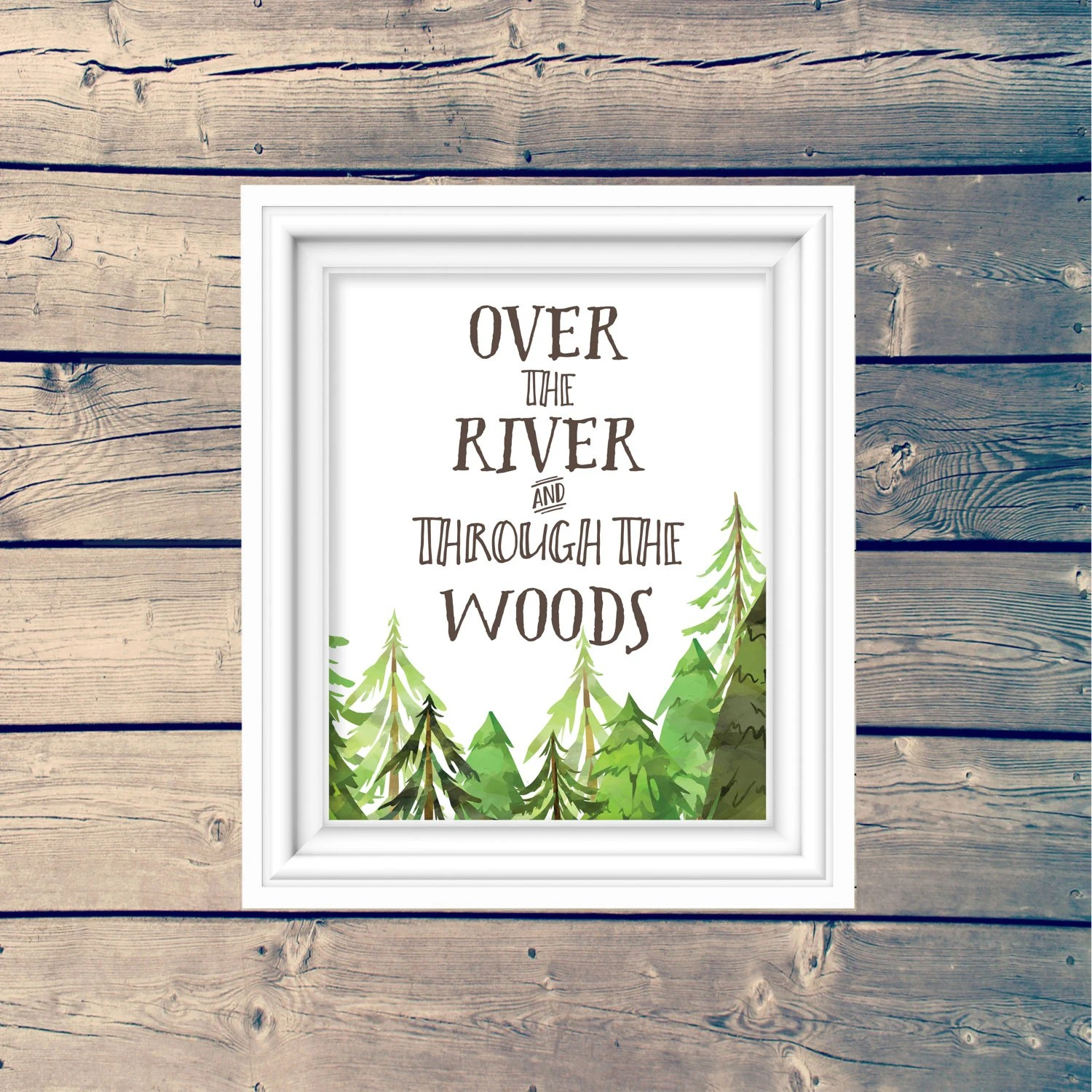 Over The River and Through the Woods Cute Woodland Nursery Art