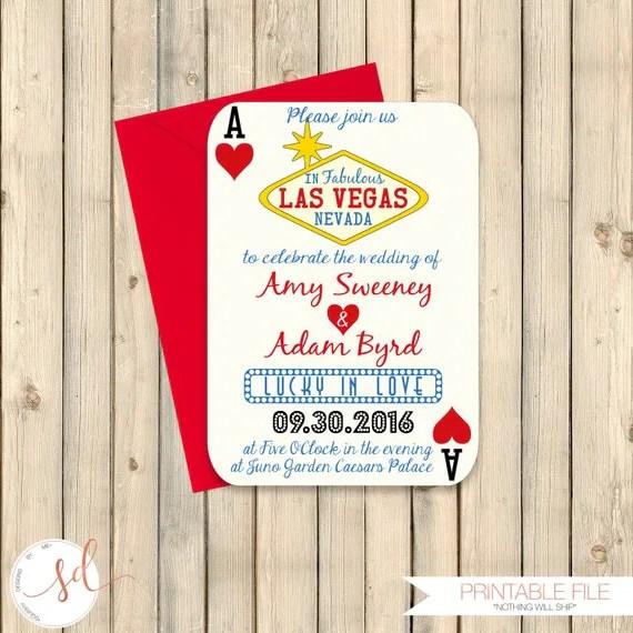 Vegas Wedding Invitations
