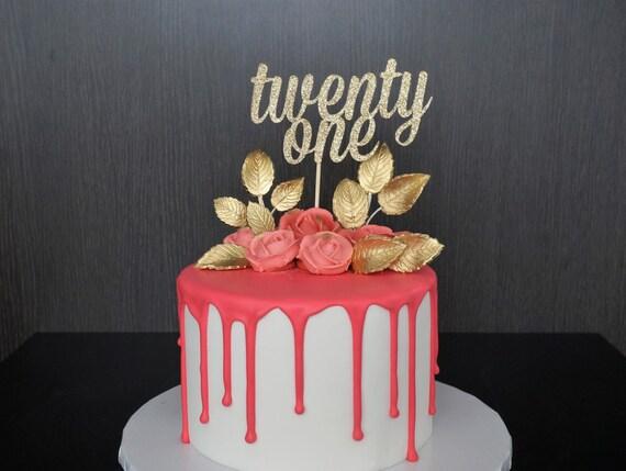 Twenty First Cake Topper