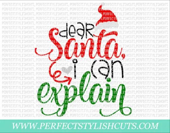 Explain I Can Santa Svg