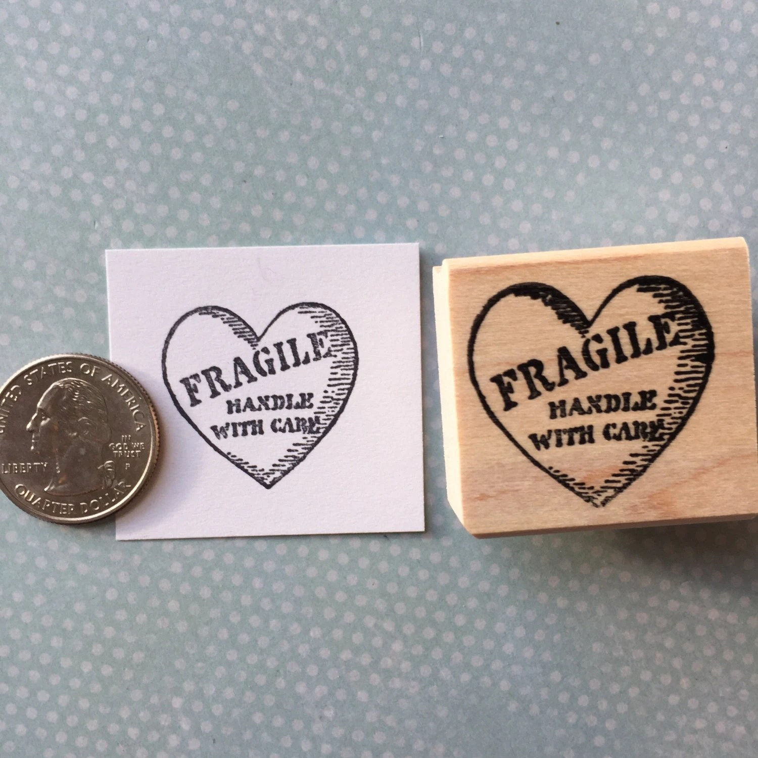 Fragile Heart Handle With Care Rubber Stamp 6358 from ...