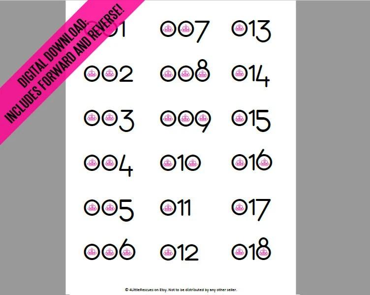 photo regarding Paparazzi Printable Numbers named Printable Figures Paparazzi Life