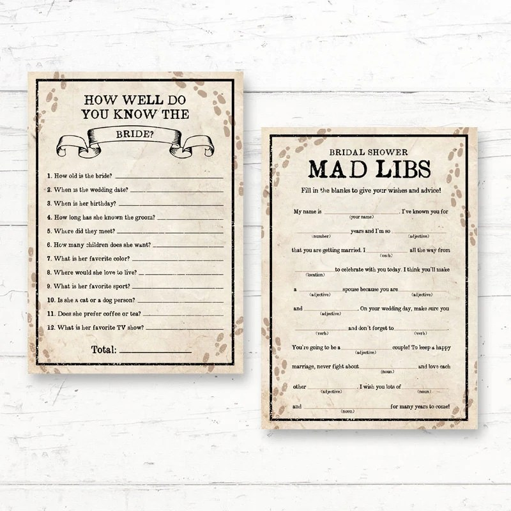 bridal shower mad libs printable