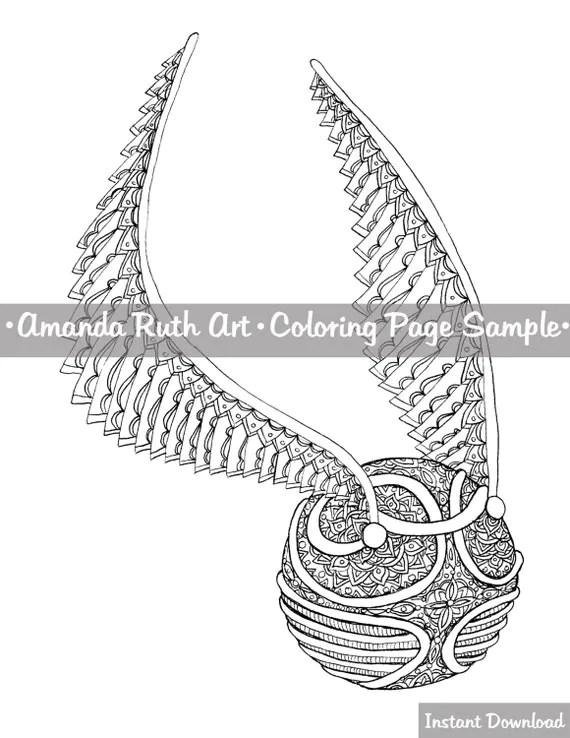 Studios Harry Potter Snitch Coloring Page