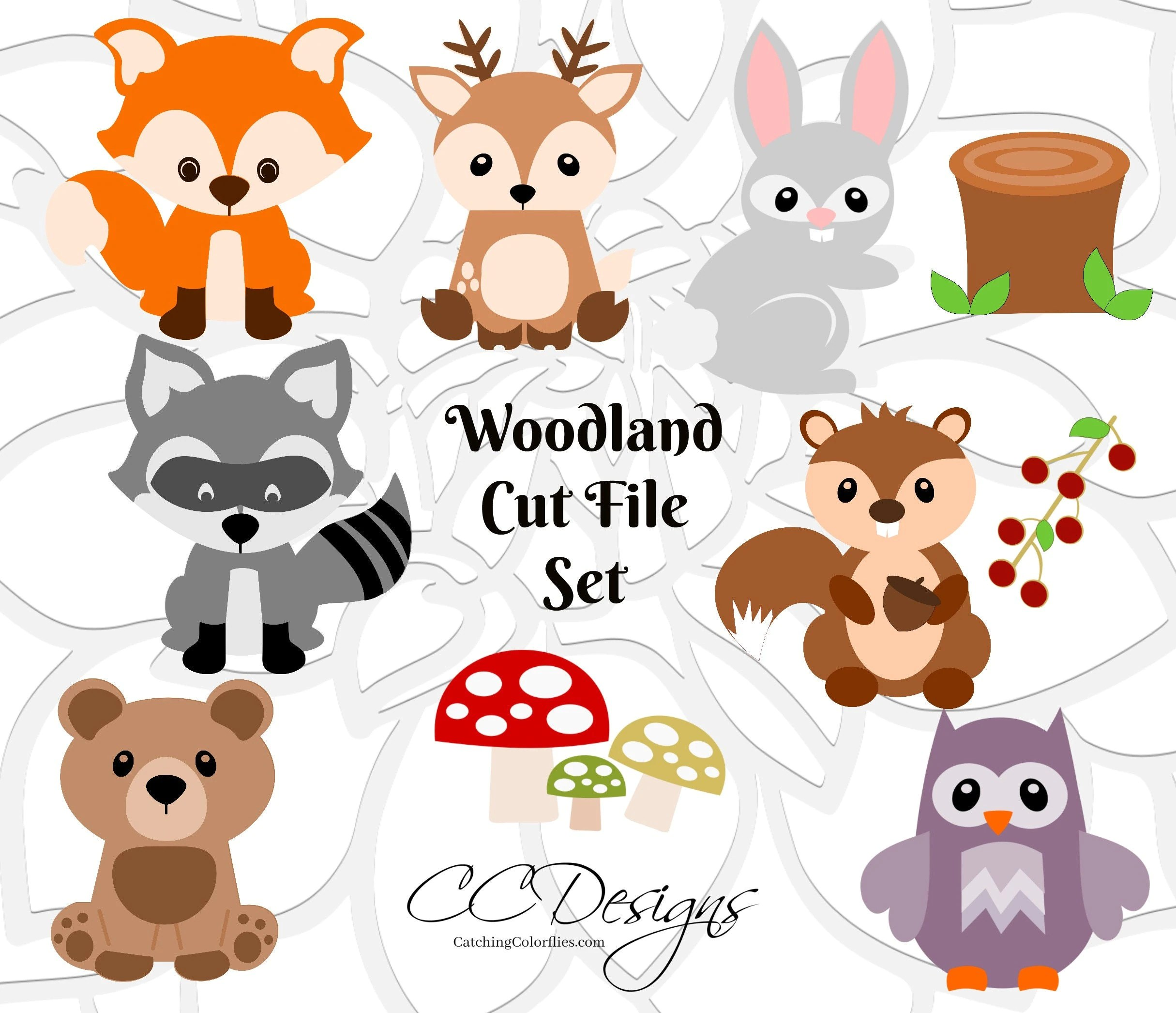 Woodland Animal SVG Cut Files Baby Forest Animal Cut Files