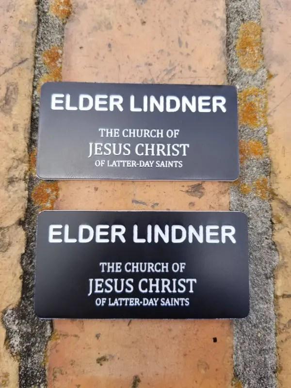 Lds Elder Missionary Name Tag