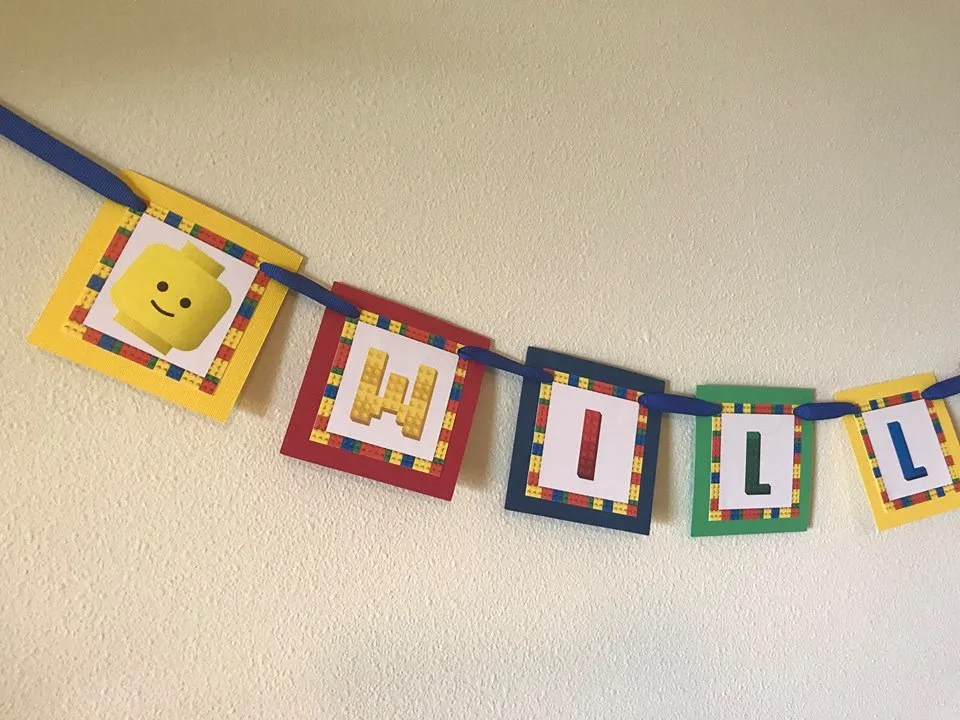 Lego Name Banner by CustomParty4U   Catch My Party Il 570xn