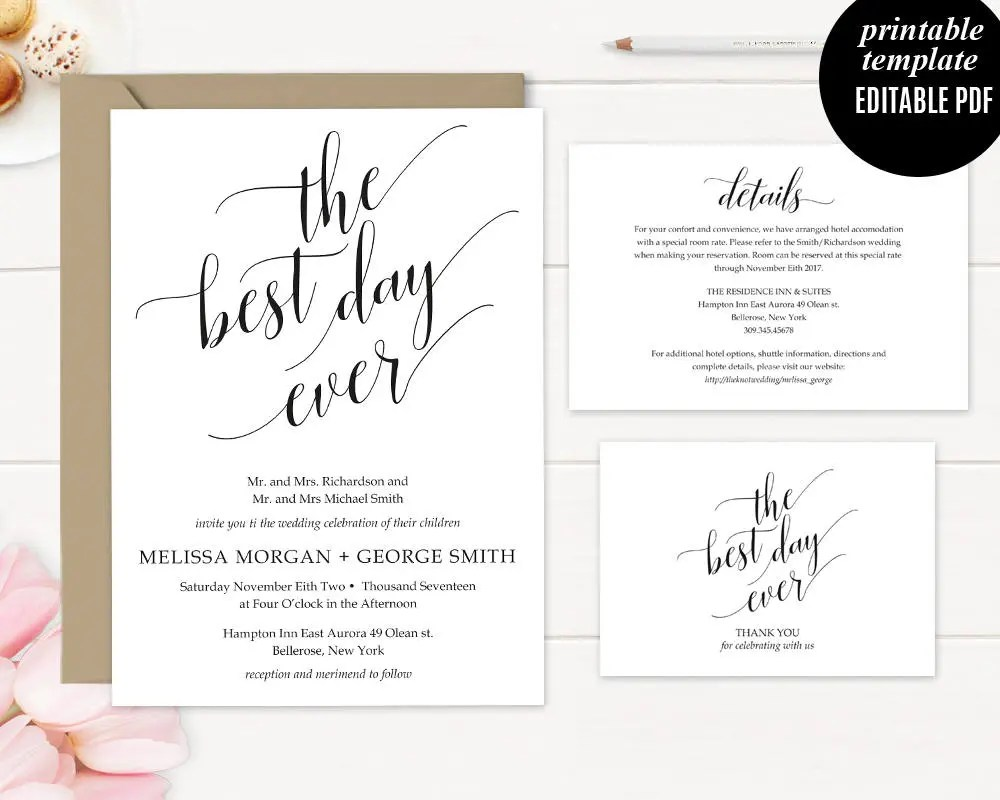 Blue Floral Gift Certificate Printable Instant Download