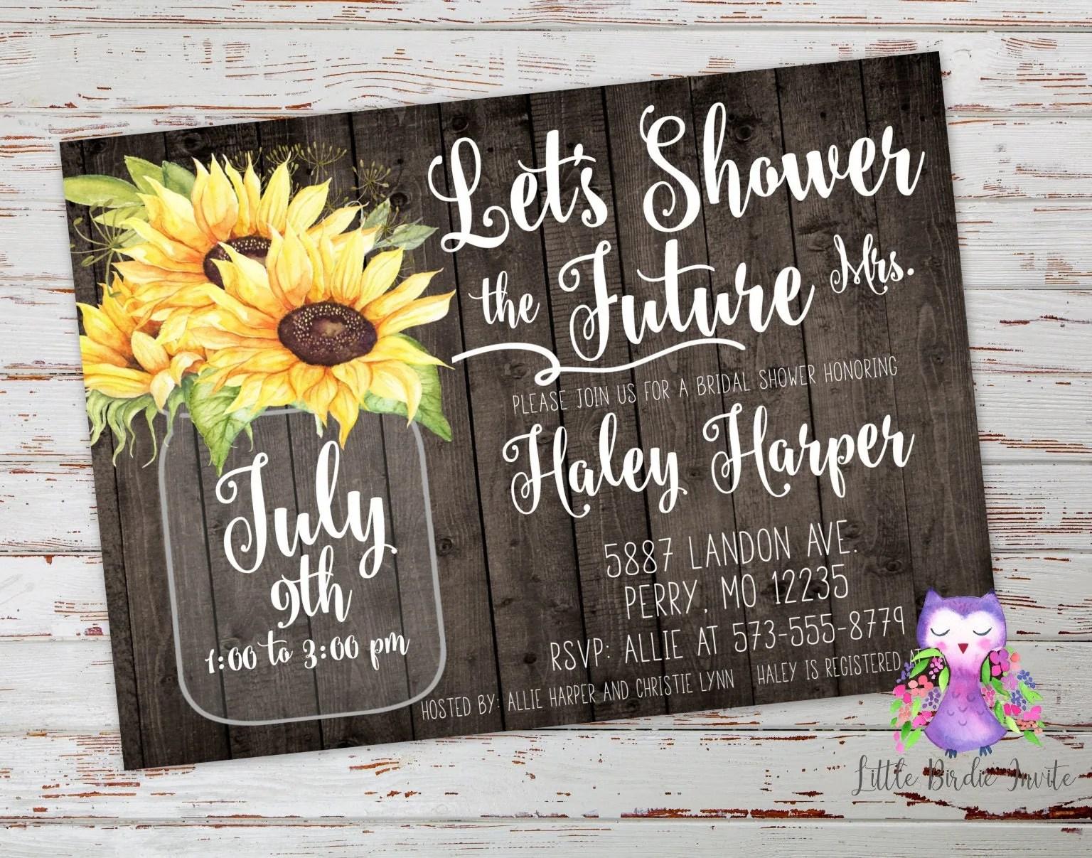Bridal Shower Invitations Recipe Cards