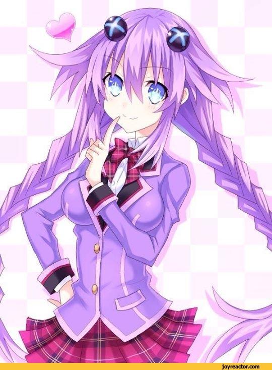 anime,hyper dimensions Neptunia,nepgear,school uniform,purpleheart