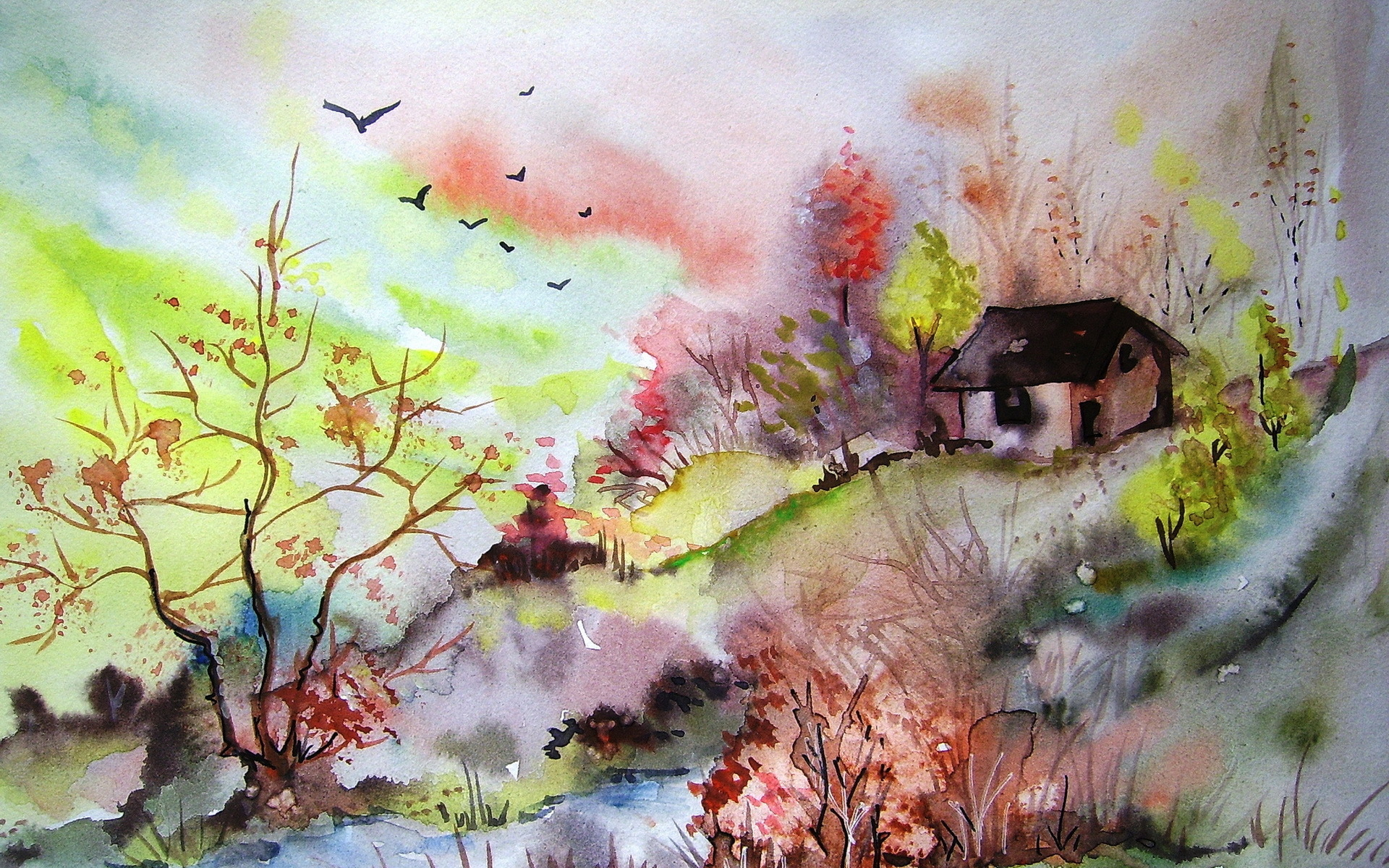 watercolor paintings images - HD1920×1200
