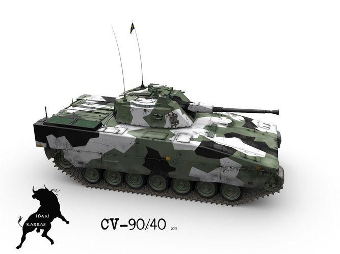Stridsfordon 90 Or Cv 90 Ifv 3d Model Cgtrader