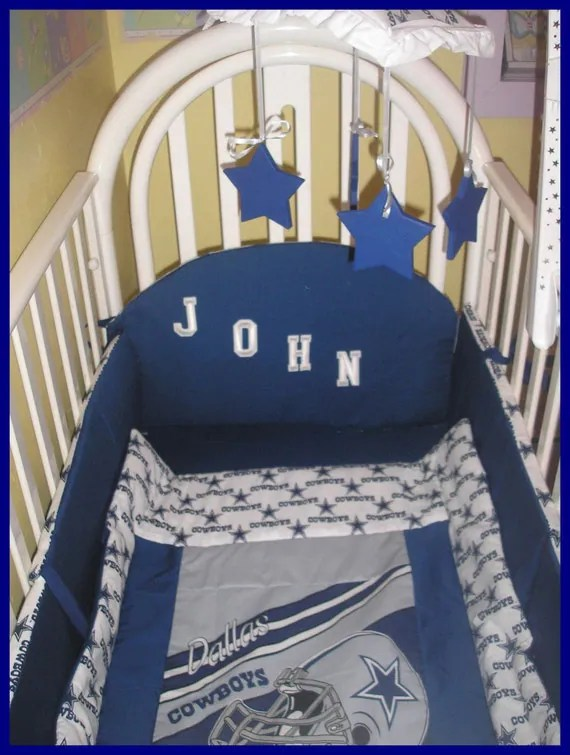 New 9 Piece Baby Crib Bedding Set In Nfl Dallas Cowboys