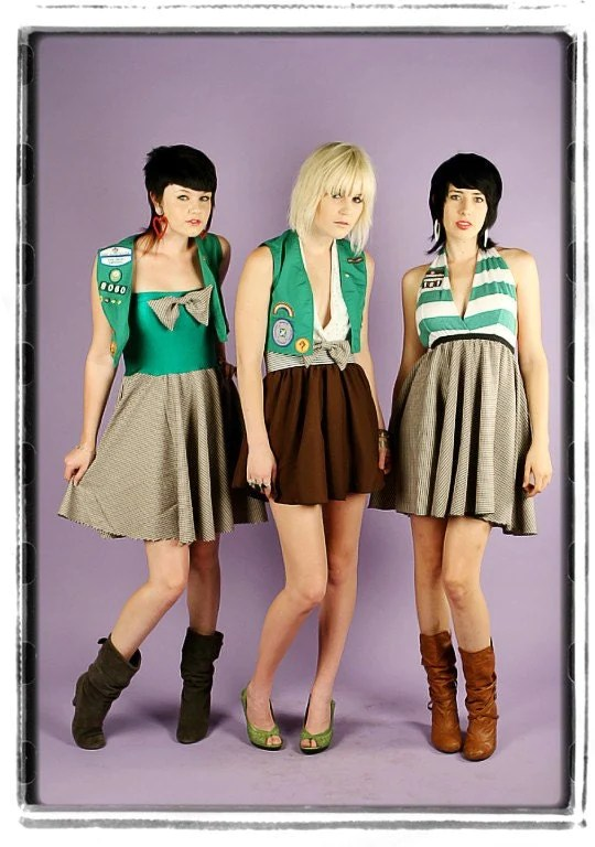 Diy Girl Scout Costume Halter Dress Vest