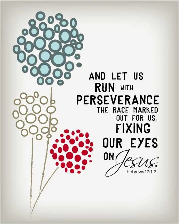 Items similar to Let us run in perseverance the race ...