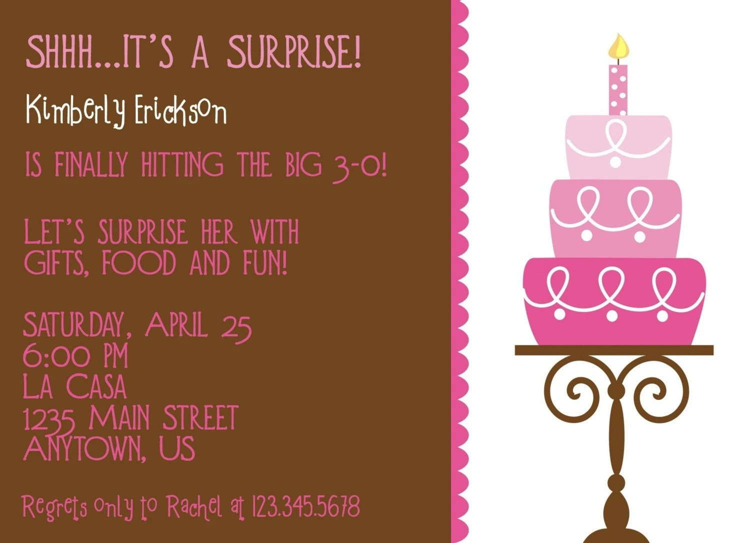 Items Similar To Birthday Cake Invitation Perfect For