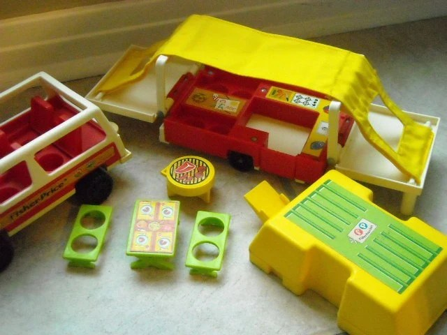 Fisher Price Little People Camping Jeep Camper By Myramelinda