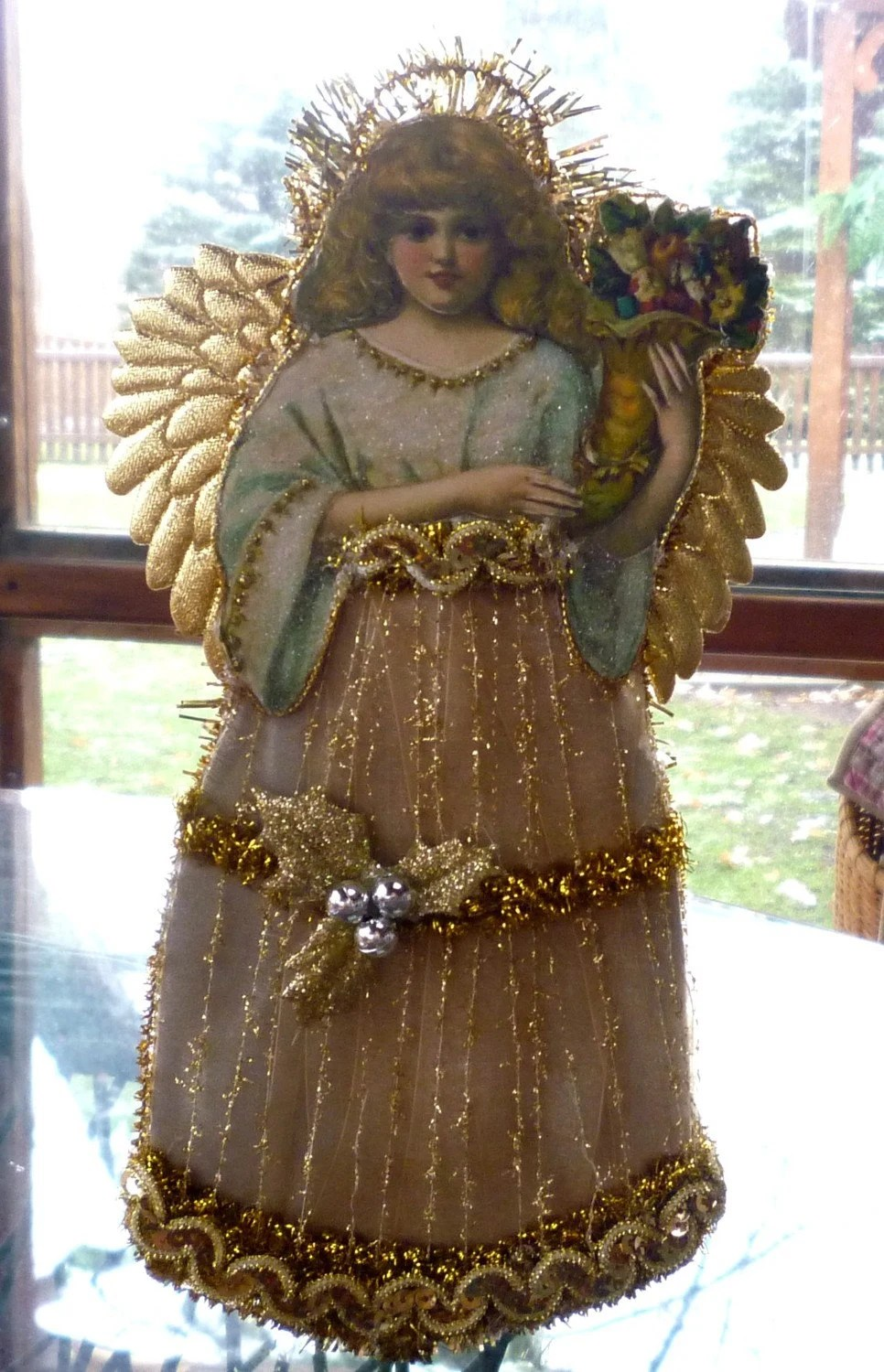 Beautiful Christmas Angel Tree Topper