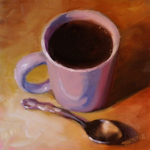 Morning Cup Coffee Painting