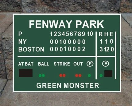 Scoreboard Fenway Park Decal
