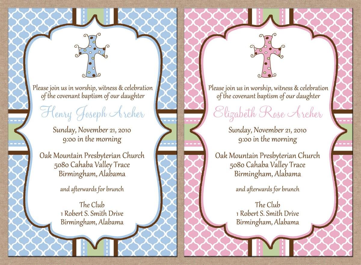 Hispanic Baptism Invitations