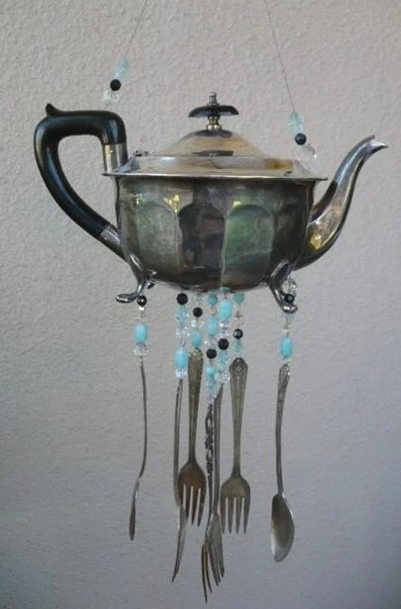 Teapot Wind Chime Spoons