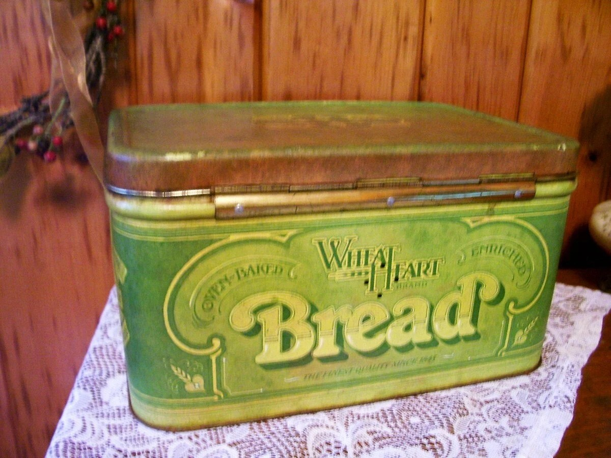Vintage Antique Tin Bread Box Country Kitchen By Thefunnybunny