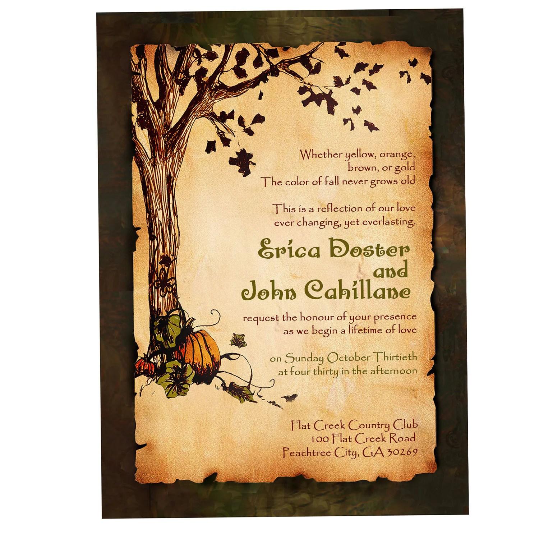 Autumn Wedding Programs