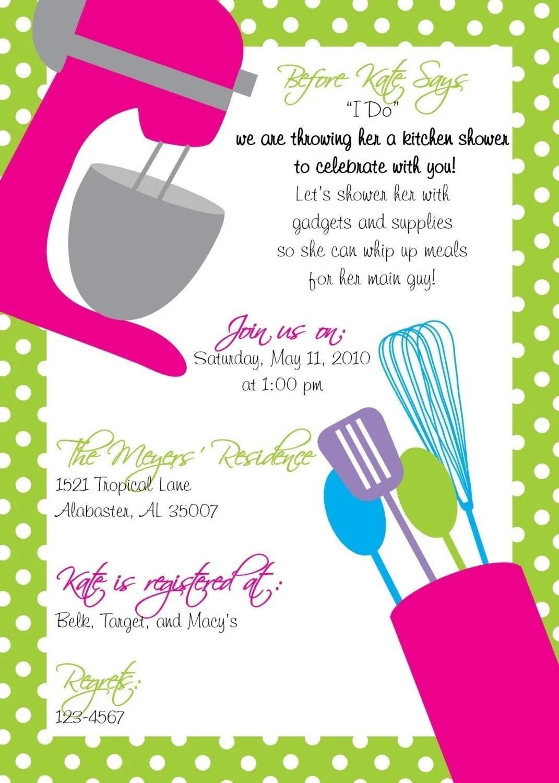 Kitchen Shower Invitations