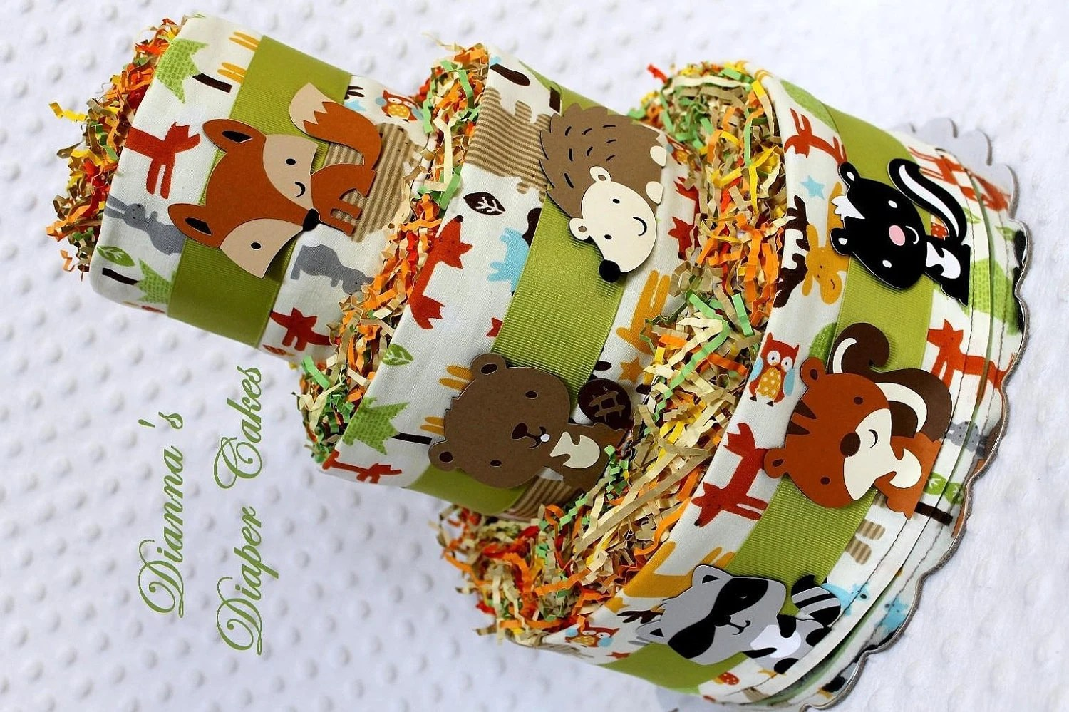 Baby Diaper Cakes Woodland Animals Creatures Baby Shower Gift