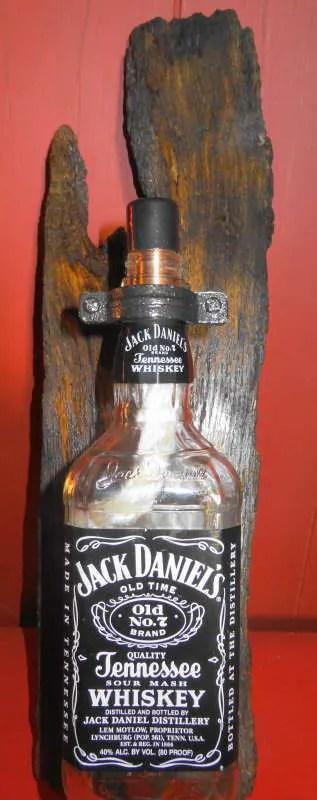 Repurposed Jack Daniels Old No 7 Whiskey Bottle