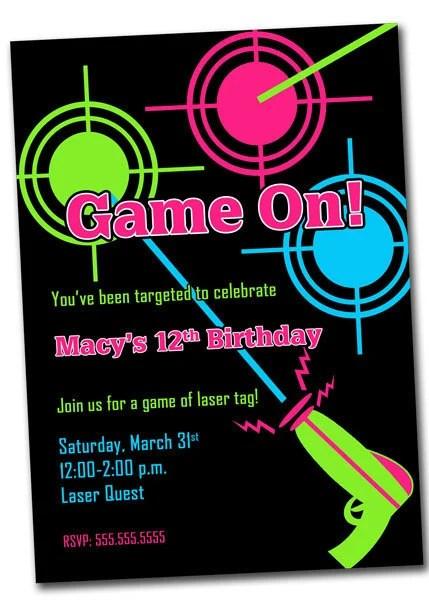 Birthday Invitations 12 Year Old Boy