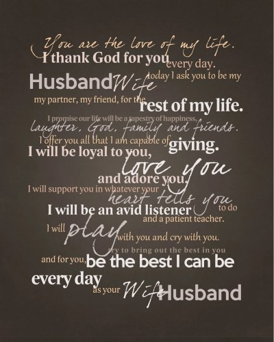 Frame Your Wedding Vows Adorable Graphic for Framing
