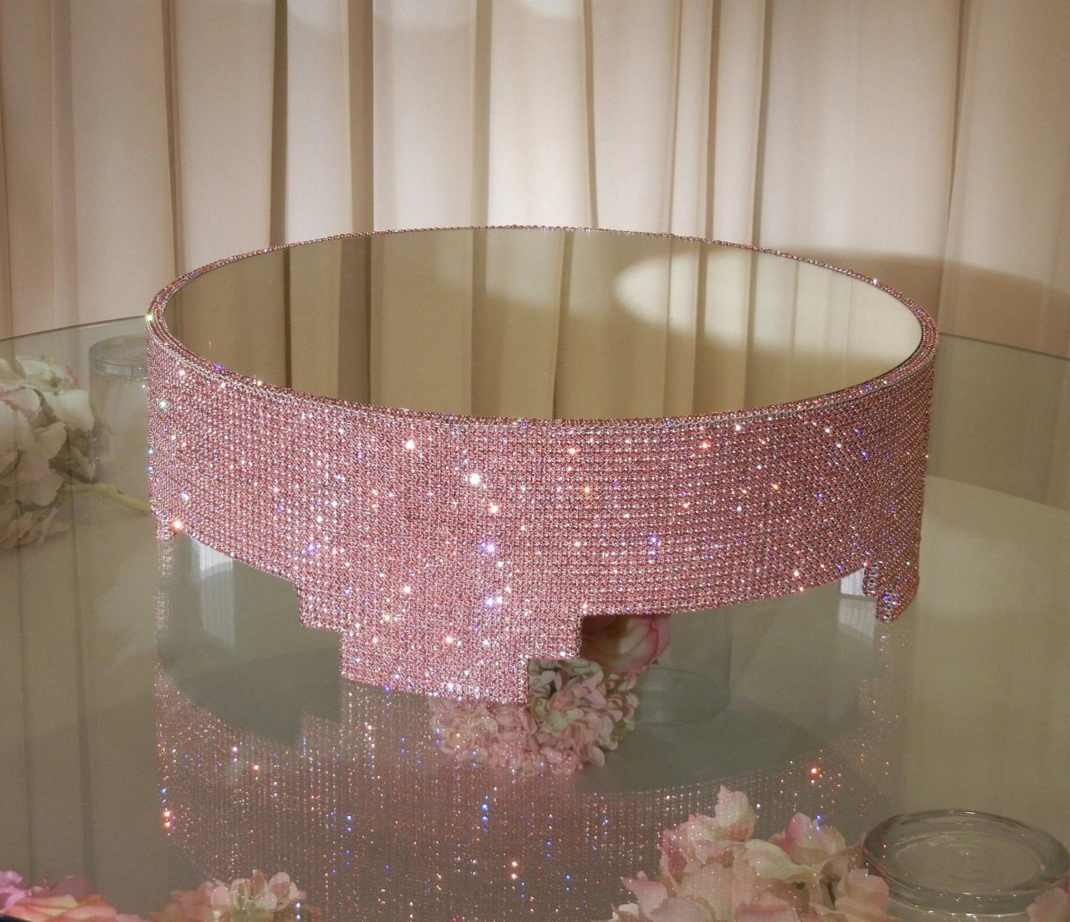 Tall Cake Stand Crystals