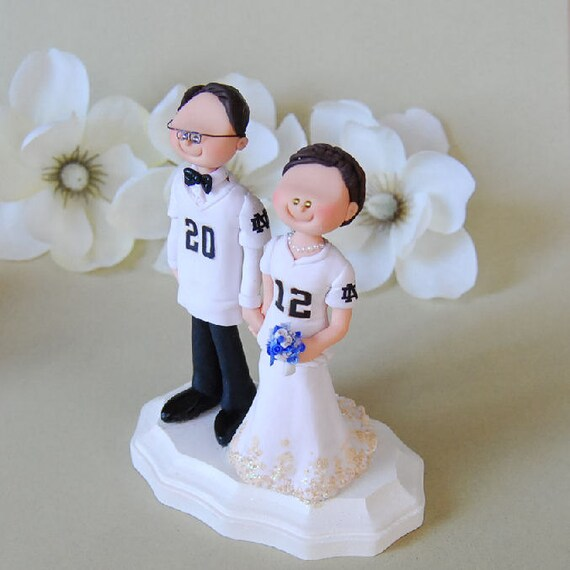Items similar to Wedding Cake Topper   Notre Dame Football on Etsy