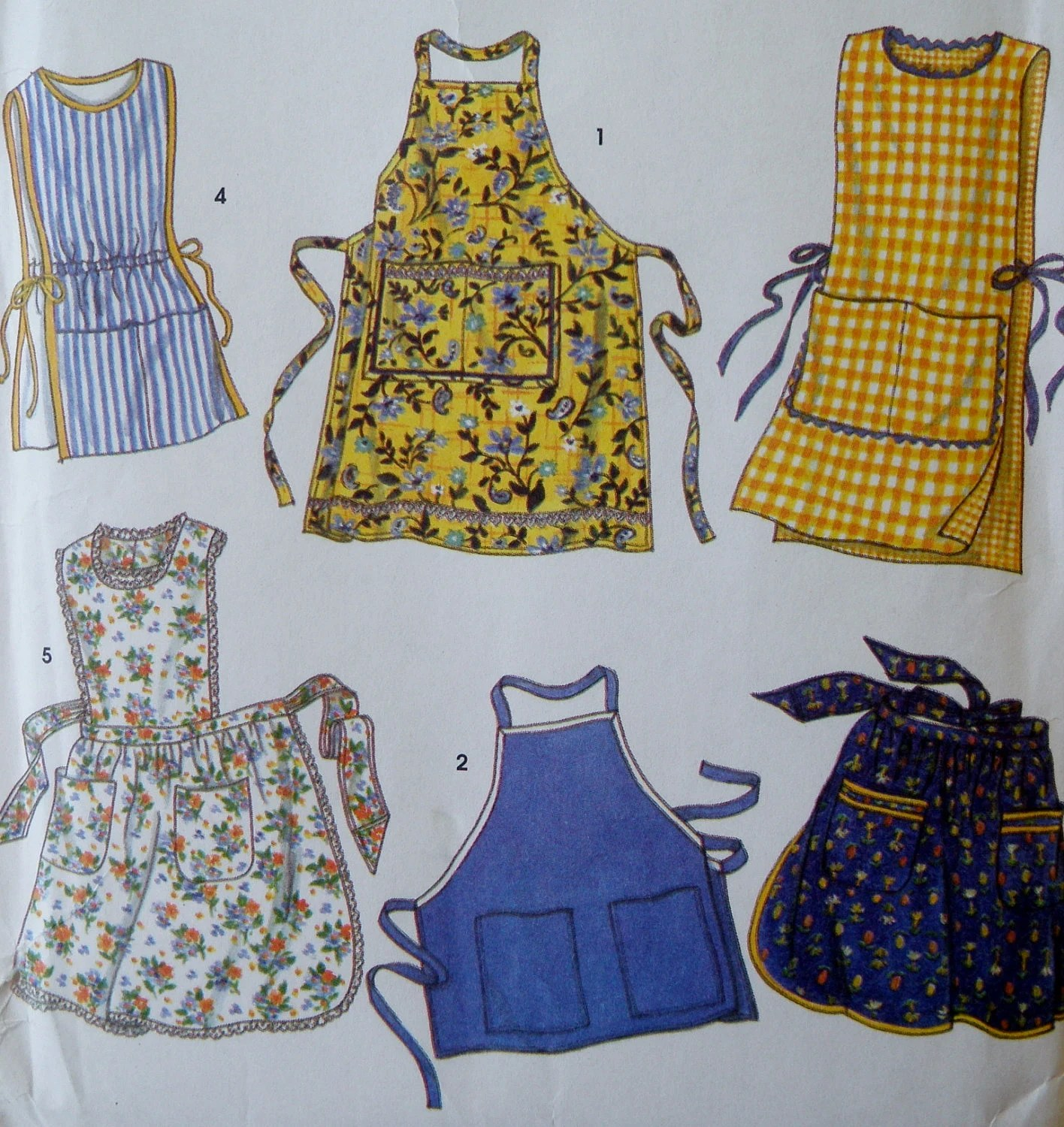Apron Pattern Full Half Cobbler Simplicity 8698 By